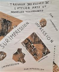 affiche de l'atelier Impression Surimpression